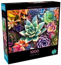 1000 Piece Simple Succulent Colorful Plants Vivid Jigsaw Puzzle