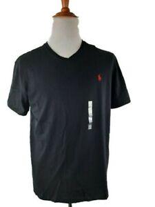 RALPH LAUREN Mens Black Short Sleeve Classic T-Shirt XLT