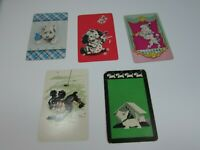 5 Single Swap Playing Cards Dogs Poodle Cocker Spaniel Westie 29998