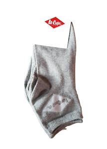 Lee Cooper lot de 6 paires de socquettes femme coton grisGris