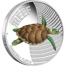 2011 Australian Sea Life Turtle 1/2oz Silver Proof Coin, Perth Mint