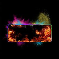 Große Mousepad RGB Bunte LED Beleuchtung Gaming Matte Mauspad Mäusematte