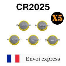 5 Piles bouton à pattes CR2025 Li-Ion 3v 150 mAh languettes (pokemon or /argent)