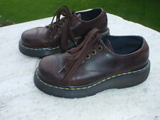Dr Doc Martens BROWN WAX LEATHER 8651 GCE10 AW004 NICE! 5 LACE US 7 UK 5  EU 38