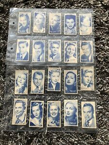 turf cigarette cards 50 Film Stars