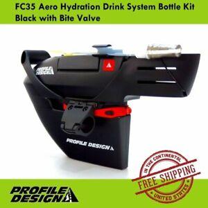 Profile Design FC35 Aero Hydration Drink System Bottle Kit Black with Bite Valve