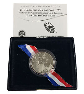 2015 US Marshals Service Proof Half Dollar - Incomplete Packaging
