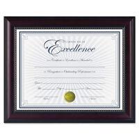 DAX Prestige Document Frame, Rosewood/Black, Gold Accents, Certificate, 8.5x11