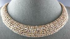 GIA EXTRA LARGE 55.46CT PINK DIAMOND 18K YELLOW GOLD 3D ETERNITY TENNIS NECKLACE