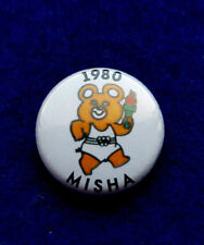 Olympic Games Moscow 1980 Misha Bear torchbearer, Olympic flame. TeamRussia  pin