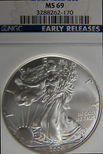 2009 SILVER EAGLE NGC MS69 EARLY RELEASES 1OZ SILVER