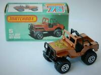 MATCHBOX LESNEY SUPERFAST No.5 4x4 JEEP GOLDEN EAGLE RARE MINT IN L BOX 1982