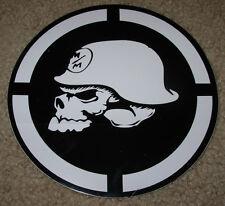 "METAL MULISHA White Circle Helmet Skate Sticker 6"" motocross skateboard decal"
