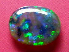 Sparking Bright Pretty Colour Pattern Natural Solid Black Crystal Opal 1.66 ctw.