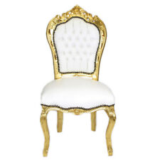 CHAIRS FRANCE BAROQUE STYLE DINING ROYAL CHAIR GOLD / WHITE #60ST5