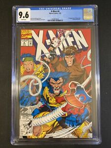 CGC 9.6 X-MEN #4 1ST APPEARANCE OF OMEGA RED🔥🔥 1992 White Pages