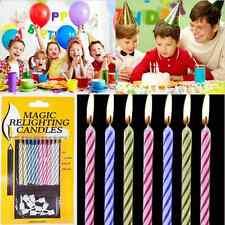 10 X MAGIC TRICK FUN RELIGHTING CANDLES BIRTHDAY CAKE PARTY XMAS JOKE