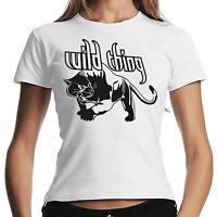 Wild Thing Wildthing Panther Katze Cat Sprüche Spaß Sprüche Damen Girlie T-Shirt