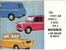 Morris Mini Van + Pick Up 850 1000 Original UK Sales Brochure No. 6539/E 1967-68