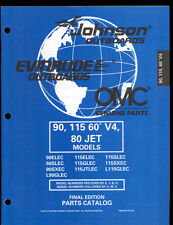 1998 OMC /JOHNSON / EVINRUDE 90 / 115 60-V4 / 80 JET MODELS MOTOR PART MANUAL