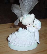 Roman, Inc Bride Figurine Musical Music Box Blond Porcelain W/ Heart Ec gg20