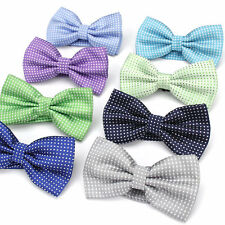 Lot 8 Packs Men's Bow Tie Adjustable Bowtie Polyester Silk Polka Dot Butterfly