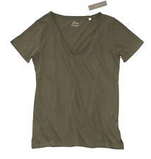 J.Crew Women's S - NWT$36 - Dark Olive Short Sleeve V-Neck SuPima Tee  J1496