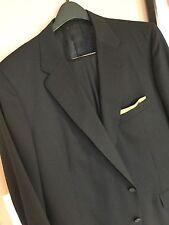 """Cravats Bespoke"" A New Stylish Black Dress Suit 48L Lux 100% Wool"