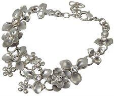 - Pilgrim Ankle Bracelet Swarovski Crystals Enamel Daisy Flowers