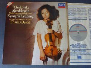 TCHAIKOVSKY / MENDELSSOHN: VIOLIN CONCERTOS LP, Kyung-Wha Chung, DECCA SXDL 7558