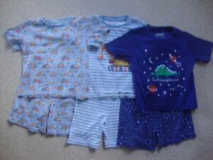 Jojo Maman Bebe boys summer pyjamas age 3-4 - 3 pairs