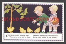 Art Deco Style -  Cute Children Feeding Chicks by May Smith