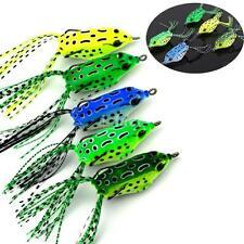 Set of 5PCS Cute Frog Topwater Fishing Lure Crankbait Hooks Bass Bait Tackle