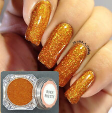 Holographic Holo Orange Laser Effect Powder Glitter Manicure Nail Glitter #5
