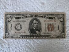 1934 Five Dollar Hawaii Bill