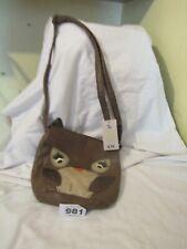 Ladies Brown Owl Design Shoulder Bag