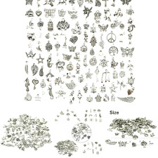 Wholesale Bulk Lots Jewelry Making Silver Charms Mixed Smooth Tibetan Silver .