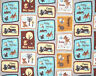 DISNEY BAMBI & FRIENDS  HAPPY TOGETHER THUMPER DEER  100% COTTON FABRIC  YARDAGE