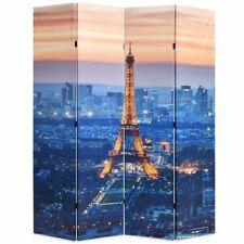 vidaXL Kamerverdeler Parijs bij Nacht 160x180 cm Zwart en Wit Kamerscherm