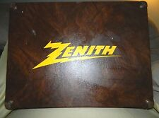 Vintage Zenith TV Radio Repairman Tool Box RCA Tube Case Box Advertising Brown