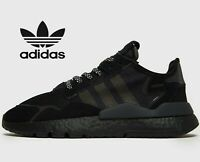 🔥 2019 Authentic Adidas Originals Nite Jogger ® ( Men UK: 6 -12 ) Triple Black