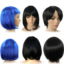 Women Lady Vogue Straight Short BOB Style Black Hair Wig Cosplay Fancy WZC