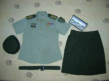 Obsolete 07's China PLA Army Woman Officer Summer Short-sleeved Uniform,Set,C
