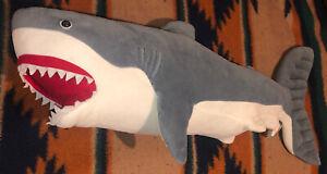 "Melissa And Doug 40"" Great White Shark Plush Stuffed Animal Clean BIG LARGE"