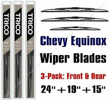 2005-2009 Chevrolet Chevy Equinox Wiper Blades 3-Pack Front/Rear 30240/190/30150