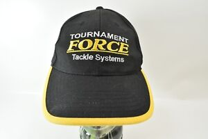 Tournament Force Tackle Systems Embroidered Hook and Loop Strap Hat Cap RARE