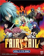 DVD Anime Fairy Tail Season 1 Complete Series (Vol. 1-175 End) English Subtitle