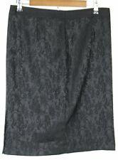 NWT DANA BUCHMAN Women's Knee Length Skirt Black Size 10