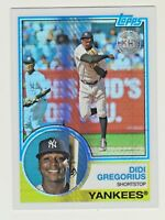 2018 Topps 35TH ANNIVERSARY 1983 SILVER PACK CHROME REFRACTOR 144 DIDI GREGORIUS