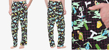 Rick and Morty Space Grid Sleep Pants Small Size